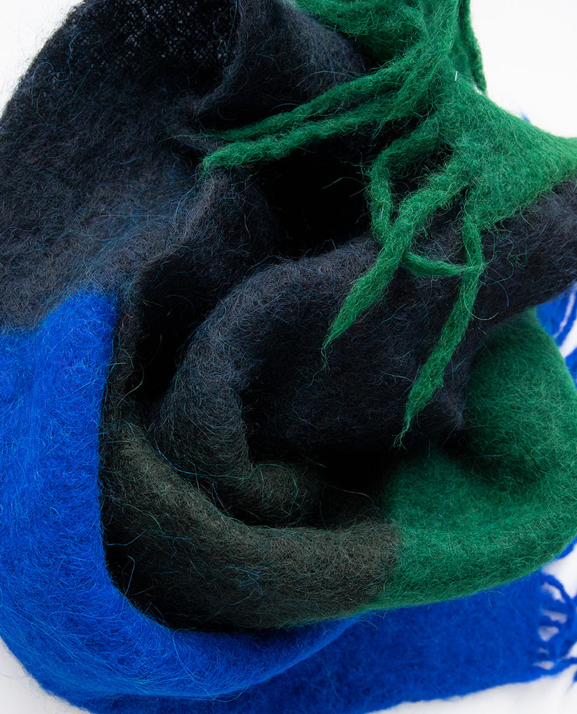 Mohair scarf blue - Exquisite J