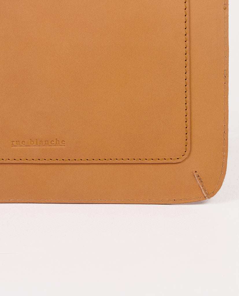 Leather clutch bag - Rue Blanche