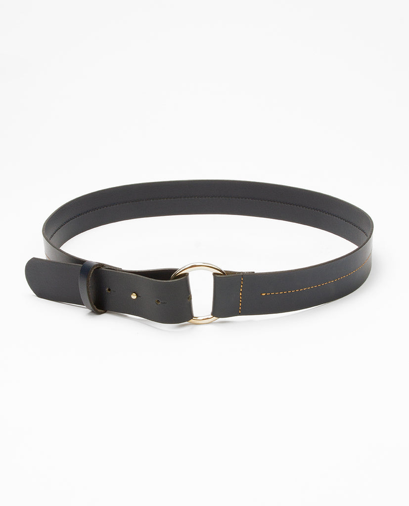 Leather belt blue - Rue Blanche