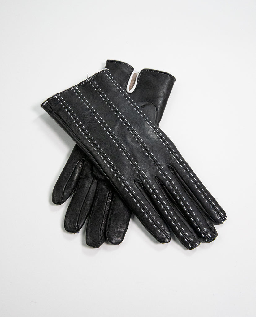 Leather gloves Black - Rue Blanche
