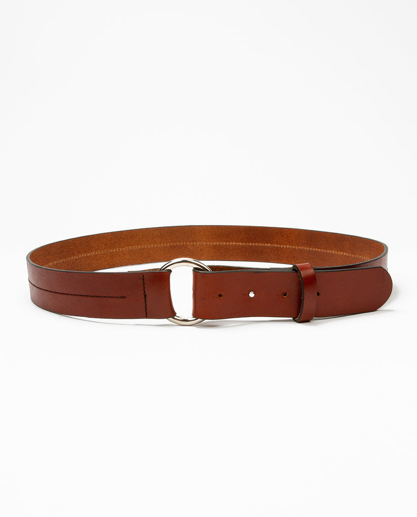 Leather belt natural - Rue Blanche