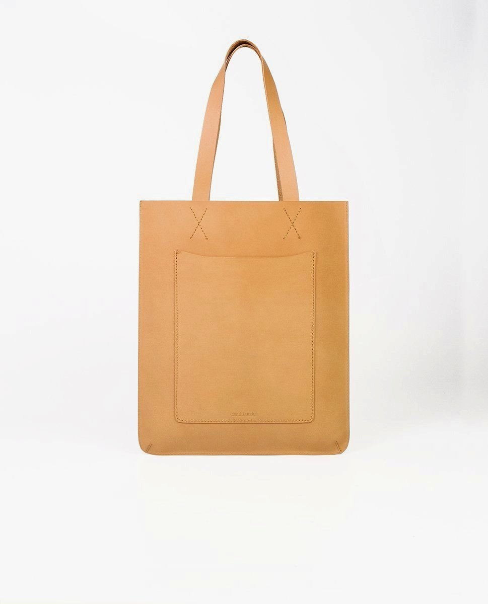 Leather tote bag - Rue Blanche