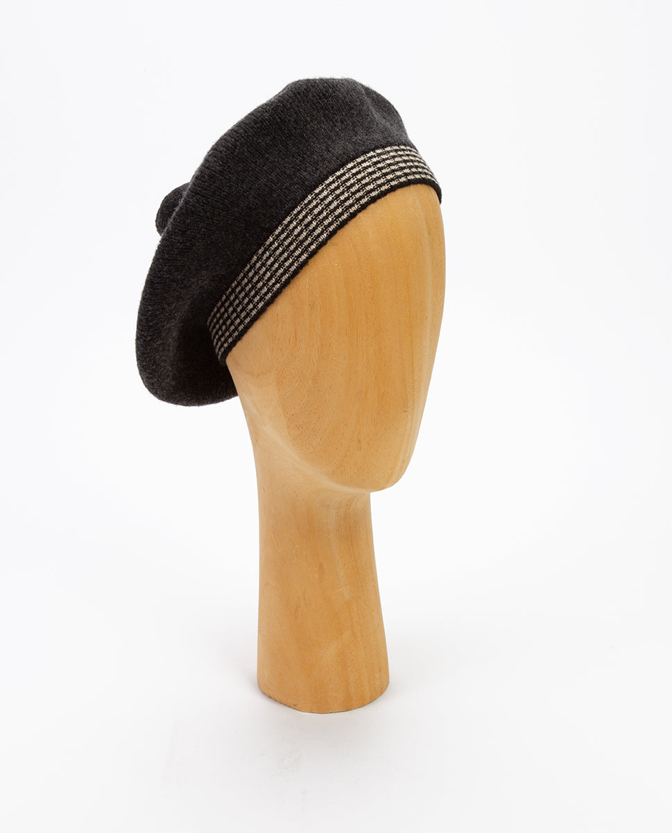 Wool baret dark grey - Jo Gordon