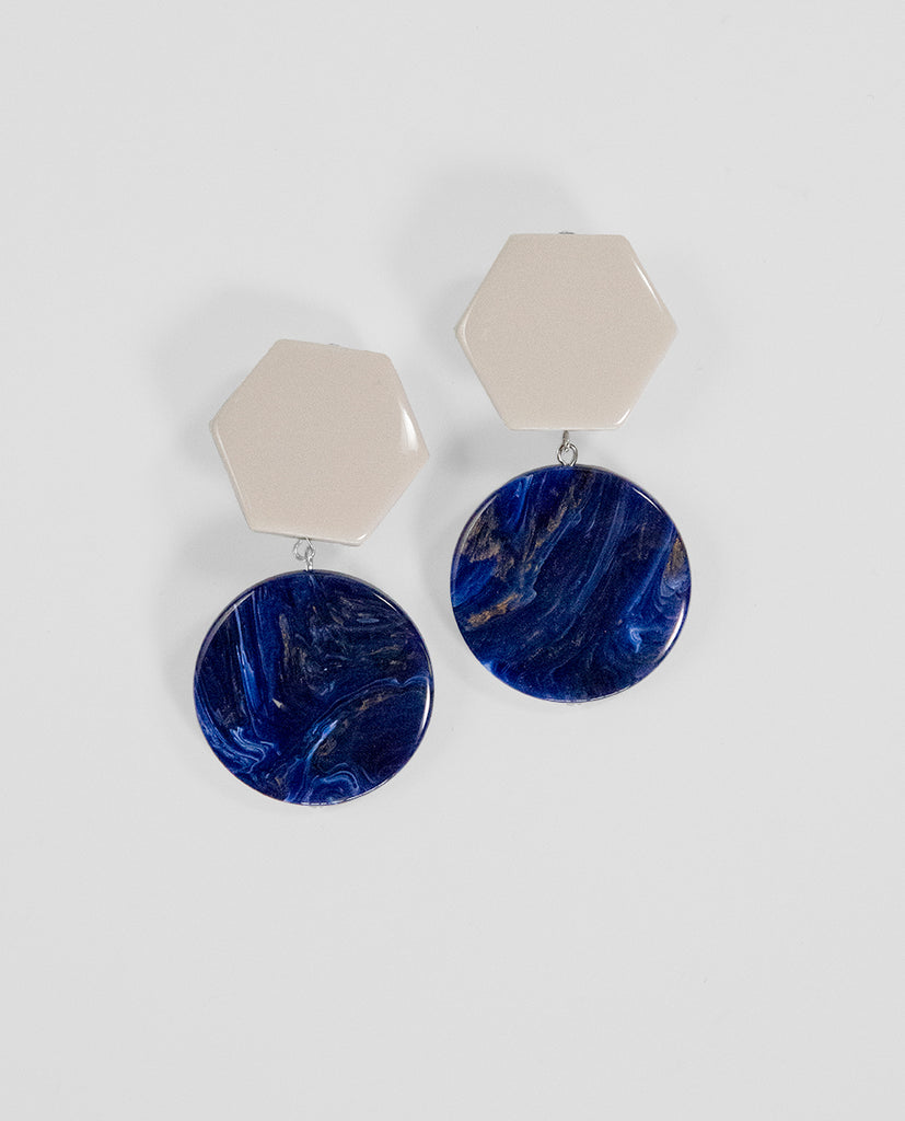 Clip Bicolor earrings - Angela Caputi