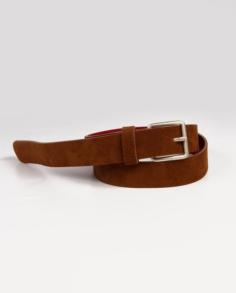 Suede belt natural - Rue Blanche