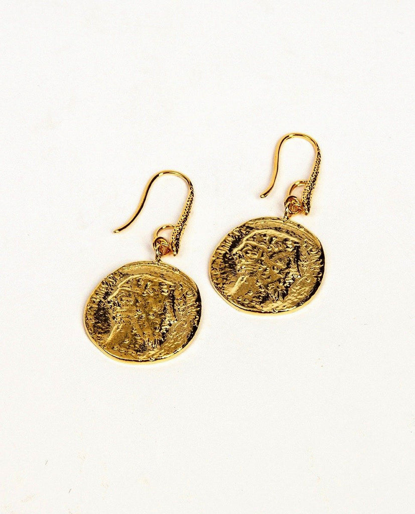 Gold earrings - Maison Violette
