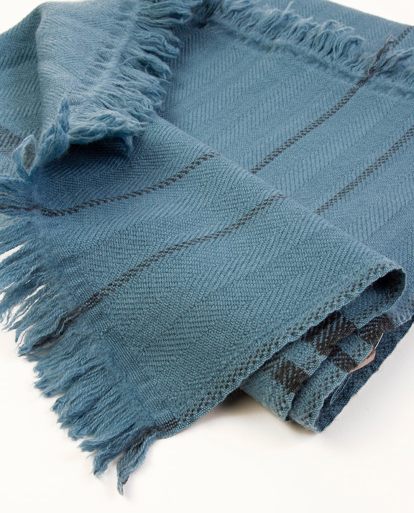 Blue scarf - Khadi & Co