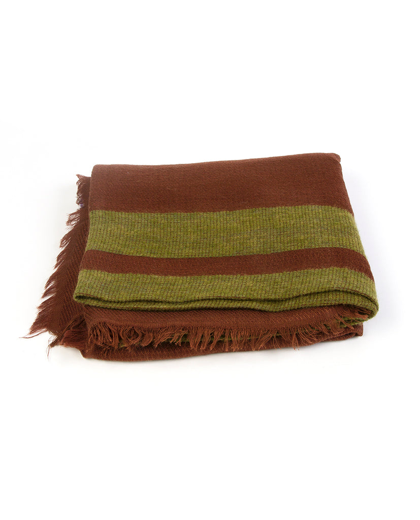 Brown scarf - Lovat & Green