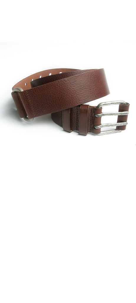 Leather buckle belt - Rue Blanche