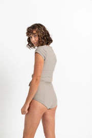 the HANNAH BOTTOM taupe