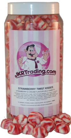 Strawberry Twist Kisses Sweet Jar Gift Jar - JKR Trading
