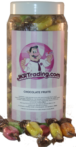 Chocolate Fruits Gift Jar Sweet Jar - JKR Trading
