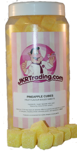 Pineapple Cubes Gift Jar A Sweet Jar Full Of Pineapple Cubes - JKR Trading
