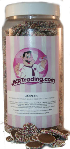Milk Chocolate Jazzies sweet Jar A Gift Jar Full Of Jazzies 1kg Jar - JKR Trading