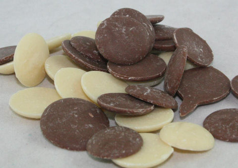 Milk Chocolate And White Chocolate Flavoured Drops Buttons From 100grams