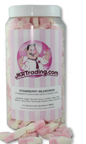 Strawberry Milkshake Sweet Jar A Gift Jar full Of Strawberry Milkshakes - JKR Trading
