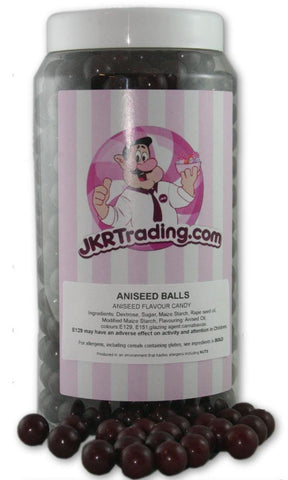 Aniseed Balls Sweet Jar A Gift Jar With Over 1 Kg Of Traditional Aniseed Balls - JKR Trading
