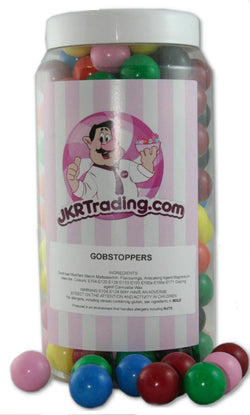 Gobstoppers Sweet Jar A Gift Jar Full With Over 1kg Of Gobstoppers