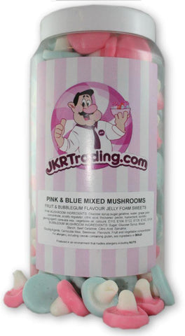 Blue And Pink Mushroom Sweet Jar A Gift Jar Mixed With Blue And Pink Mushrooms - JKR Trading