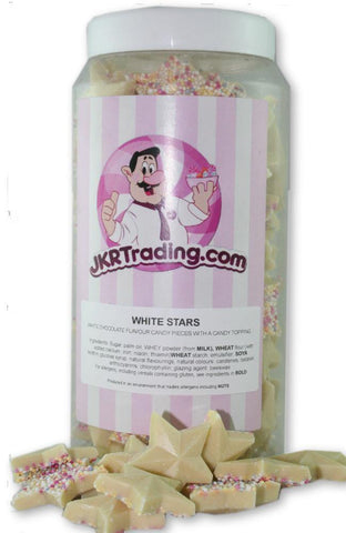 White Stars Sweet Jar A Gift Jar Full Of White Chocolate Flavoured Stars