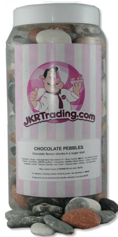 Chocolate Pebbles Sweet Jar Gift Jar Full Of Chocolate Stones - JKR Trading