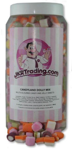 Dolly Mix Sweet Jar A Gift Jar Full Of Dolly Mixtures - JKR Trading