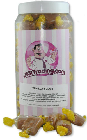 Vanilla Fudge Sweet Jar A Gift Jar Full Of Vanilla Fudge Pieces - JKR Trading