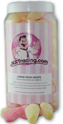 Large Peardrop Sweet Jar A Gift Jar Full Of Large Peardrops - JKR Trading