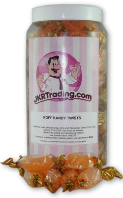 Koff kandy Sweet Jar A Gift Jar Full Of Cough Candy Twists - JKR Trading