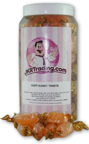 Koff kandy Sweet Jar A Gift Jar Full Of Cough Candy Twists