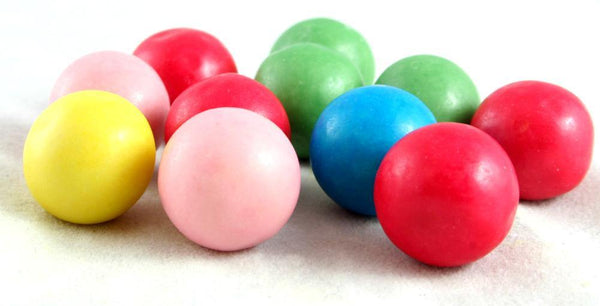 bubblegum balls tutti frutti flavoured multicoloured bubblegum balls - JKR Trading