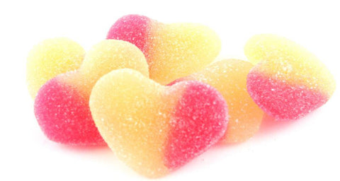 spanish peaches heart shaped peach flavoured jellies from 100gram - JKR Trading