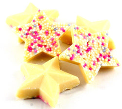 white chocolate stars snowie stars from 100grams - JKR Trading