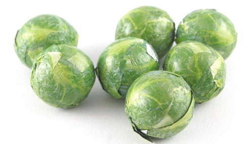 Chocolate Sprouts Individually Wrapped Milk Chocolate Balls In The Shape Of Sprouts - JKR Trading
