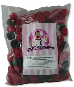 Black And Raspberry Berries 1kg Share Bag Of Fruit Flavoured Sweets - JKR Trading