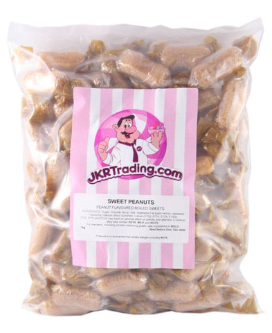 1KG Bag Of Sweet Peanuts Individually Wrapped Peanut Flavoured Monkey Nuts - JKR Trading