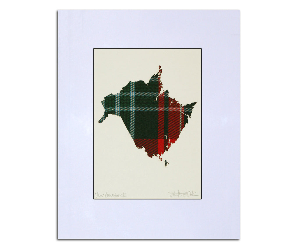 NEW BRUNSWICK Tartan Map. 8\