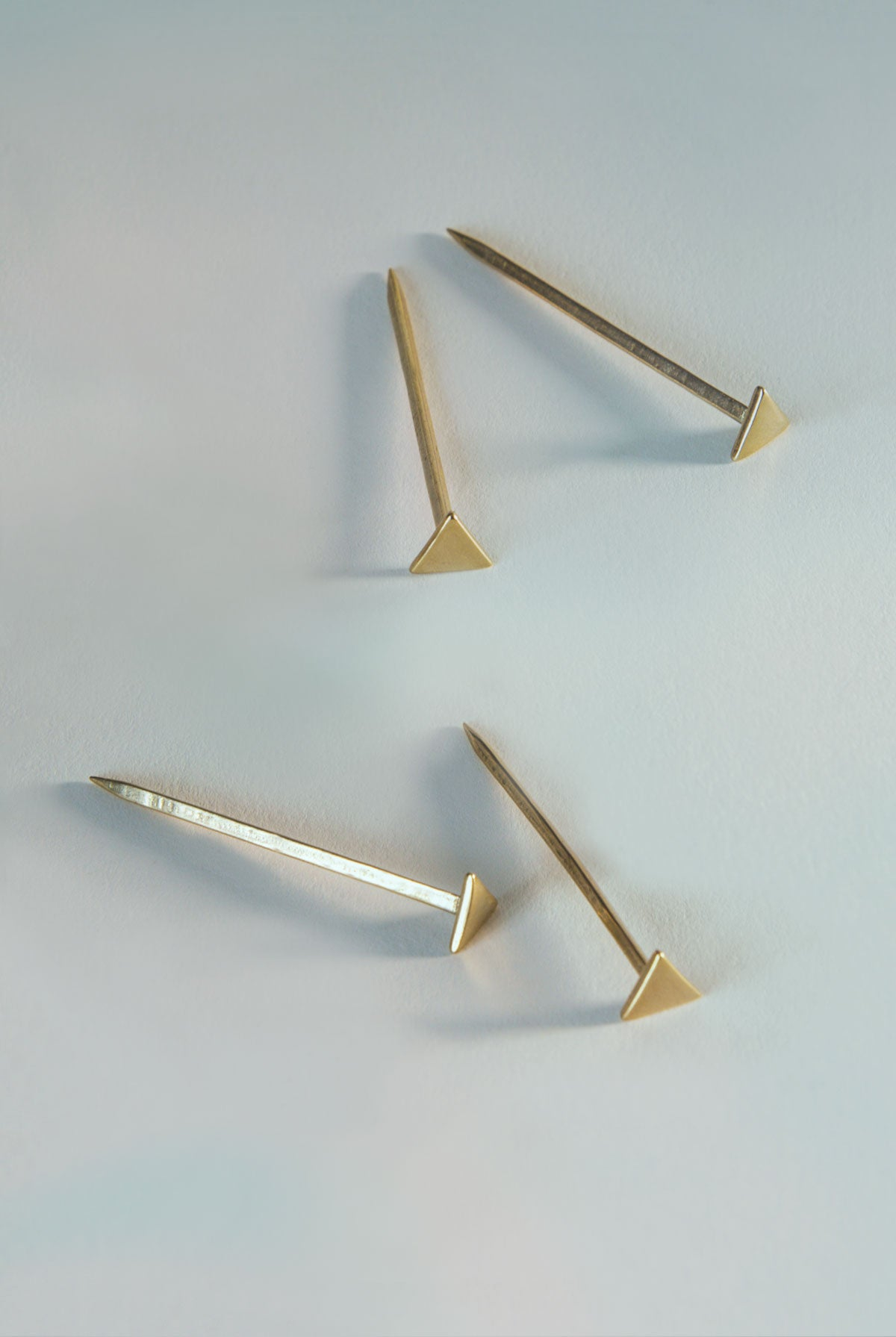 Equilateral Nails in Bronze