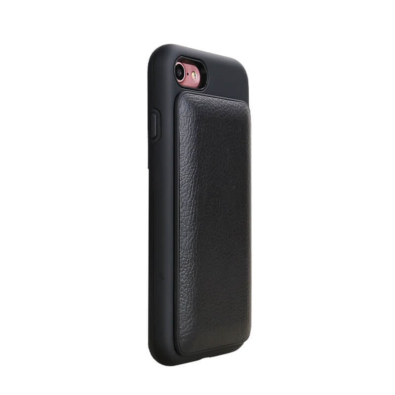 Case with Cord - Black Leather