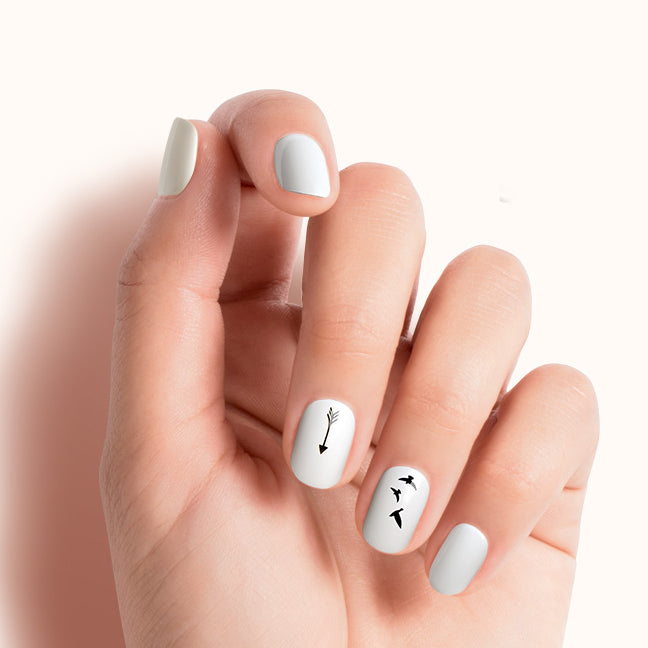 Buzz Worthy | Press On Transfer Nail Art by Dashing Diva