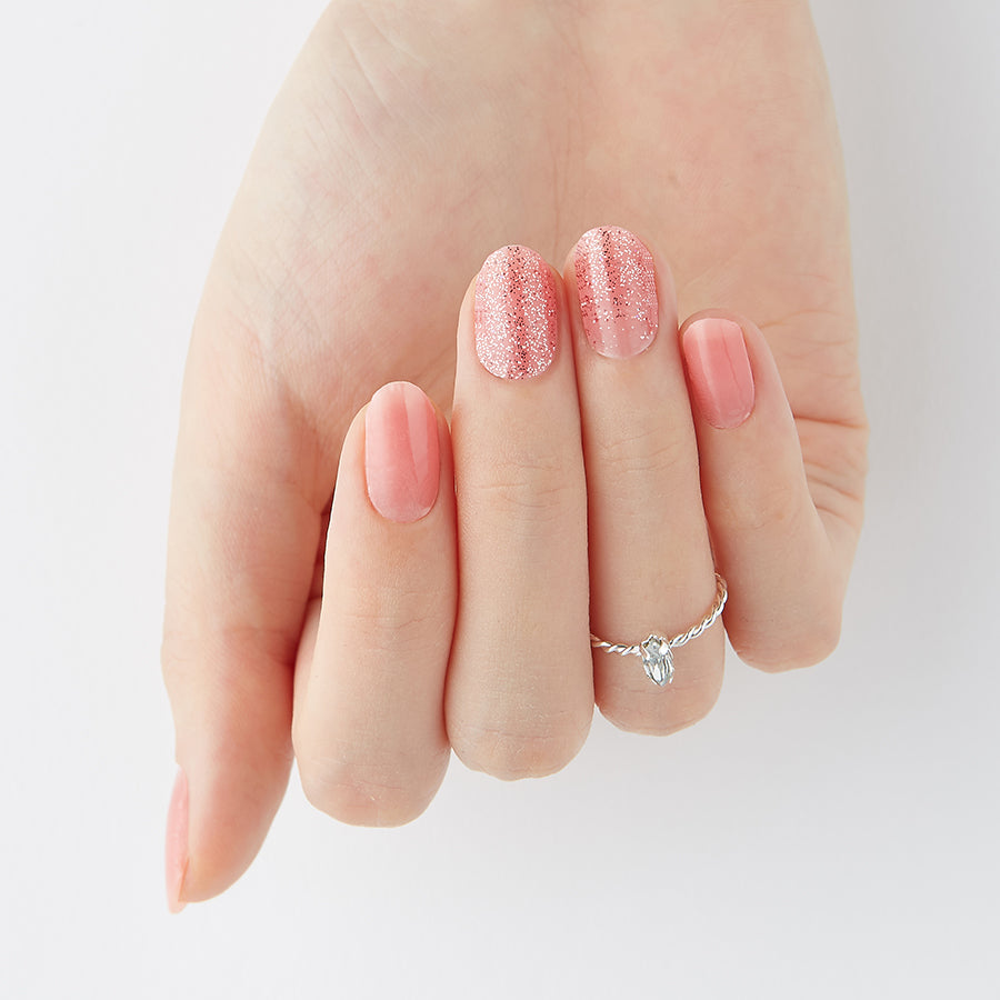 Pink Parfait | Tint Gloss Pink Gel Nail Strips by Dashing Diva