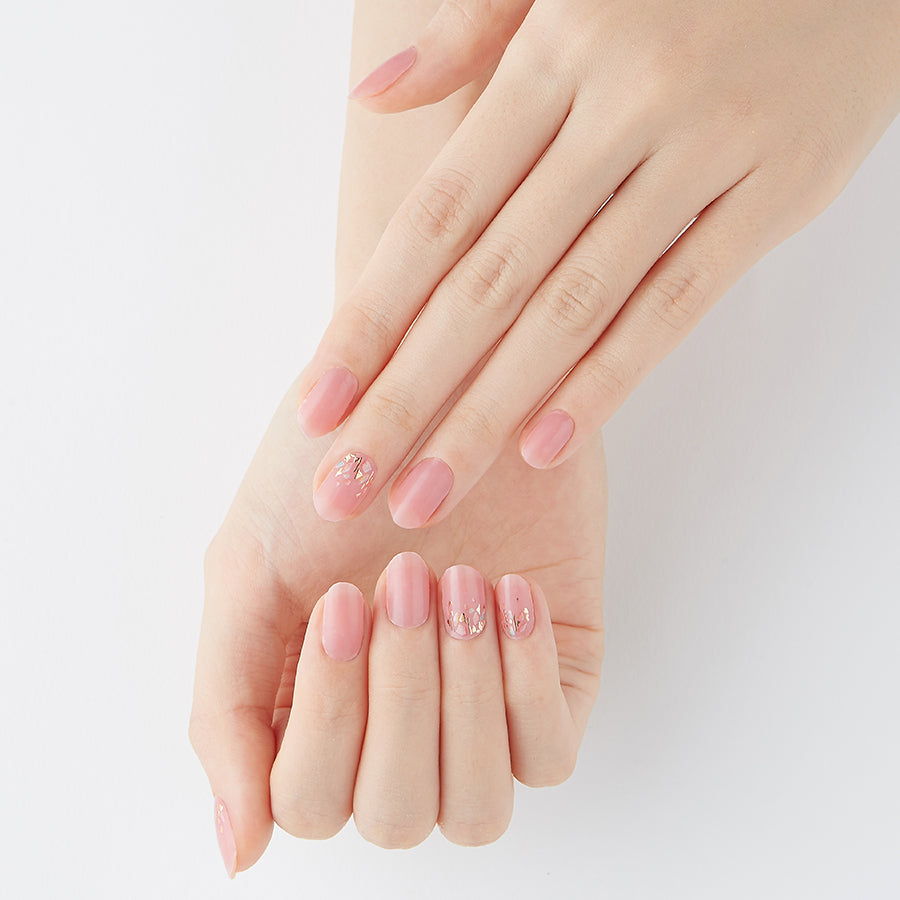 Pink Peony | Tint Gloss Pink Gel Nail Strips by Dashing Diva