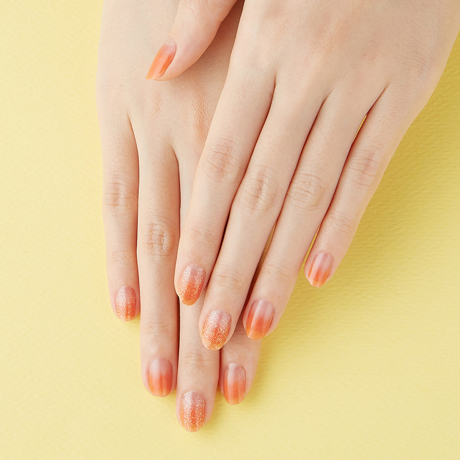 Peach Sorbet | Tint Gloss Nude Gel Nail Strips by Dashing Diva