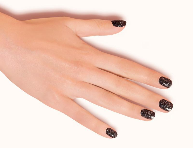 Dark Grey Groovin Night Glitter Nail Polish DKP078 Flat - Dashing Diva.jpg