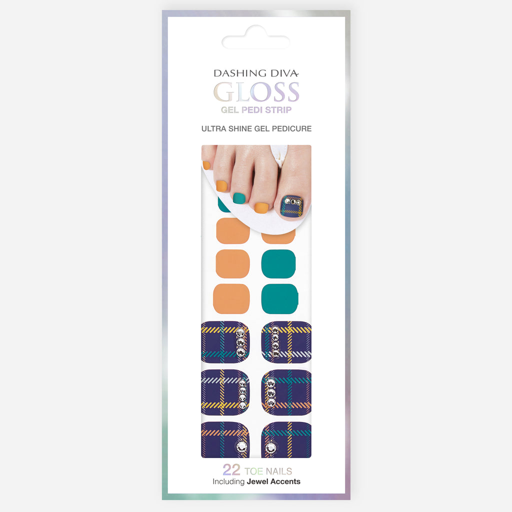Mad for Plaid | Gloss Gel Nail Strips for Toes by Dashing Diva