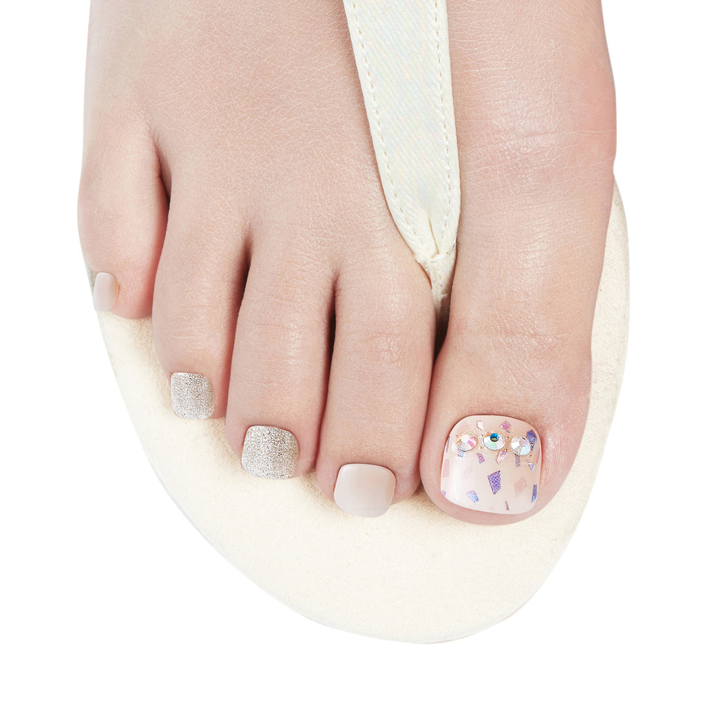 Escape Artist | Gloss Gel Nail Strips for Toes by Dashing Diva