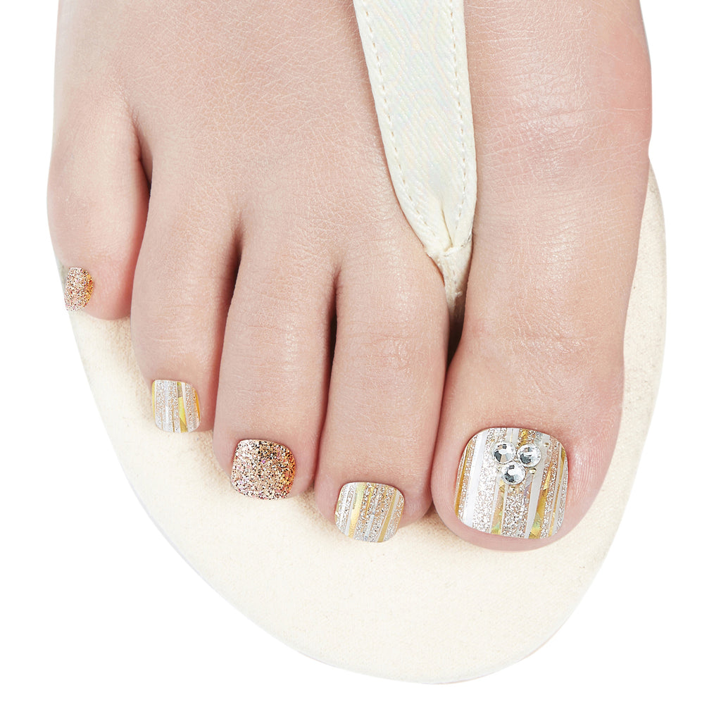 Dashing Diva MTA Madness Gloss Gel Strips for toes