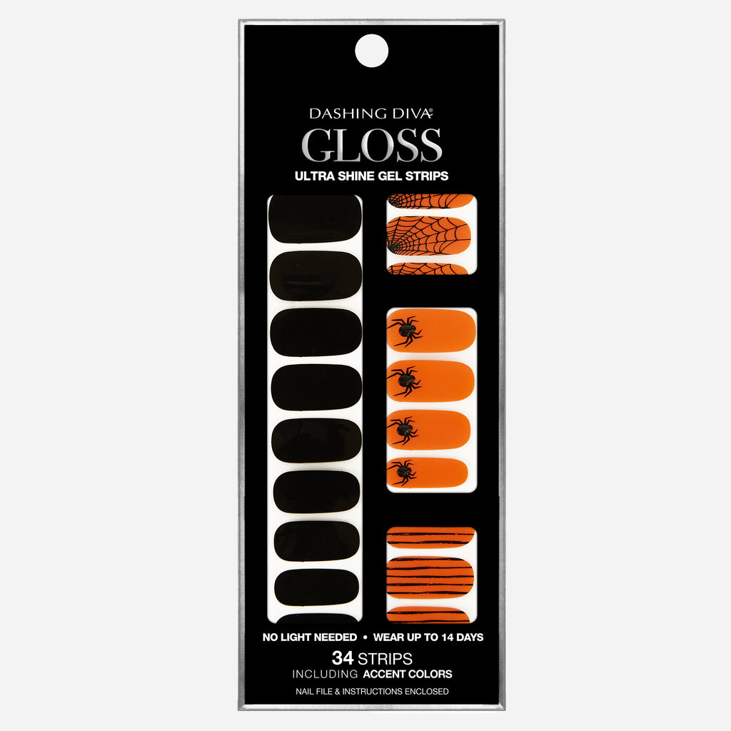 Jeepers Creepers | Halloween Gloss Gel Nail Strips by Dashing Diva