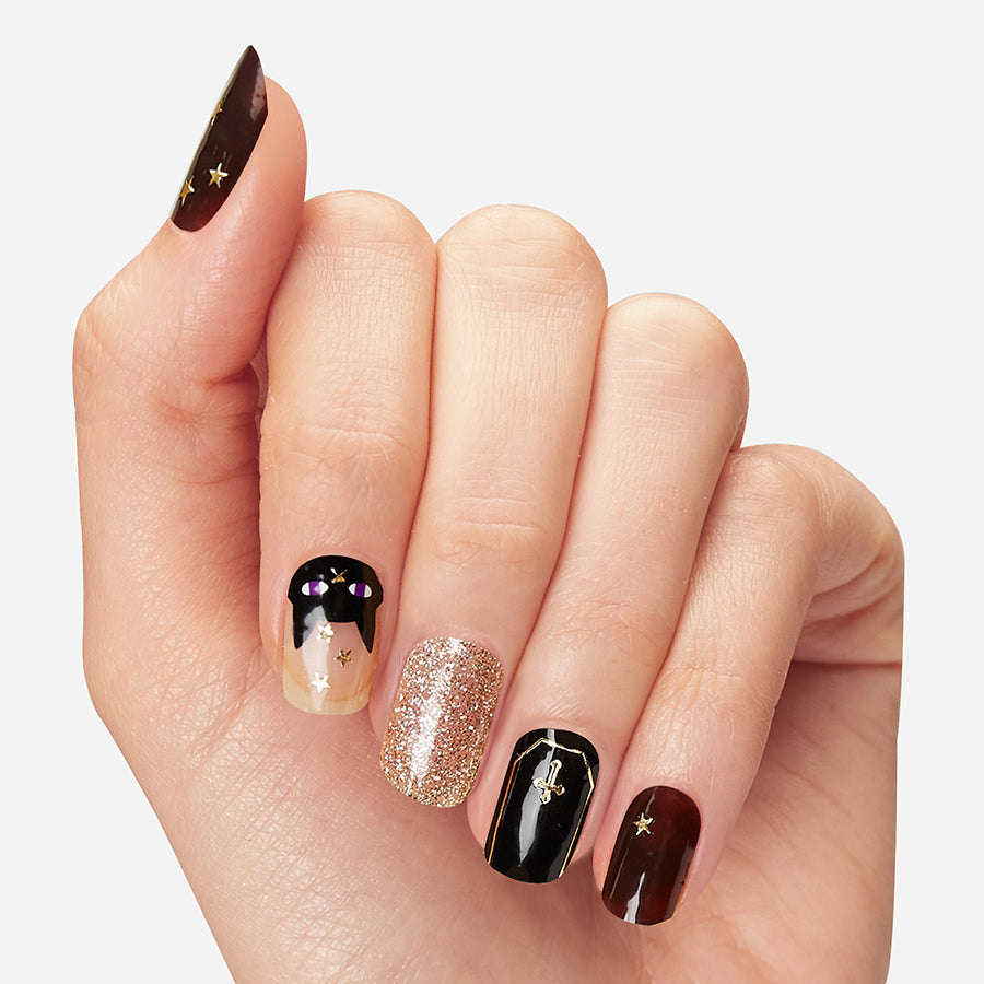 Night Moves | Halloween Gloss Gel Nail Strips by Dashing Diva