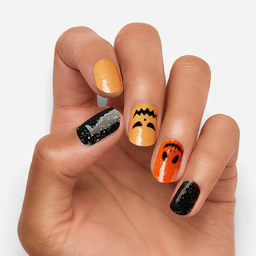 Orange You Scared | Halloween Gloss Gel Nail Strips by Dashing Diva